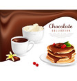 chocolate collection poster vector image vector image