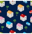 city isometric seamless pattern house vector image vector image