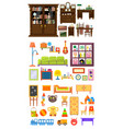 collection home furniture interior cabinet vector image