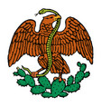 color mexican eagle vector image vector image