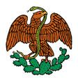 color mexican eagle vector image