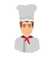 colorful portrait half body of male chef vector image vector image