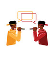colorful rap battle flat vector image vector image