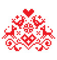 cross stitch seamless folk art pattern vector image vector image