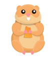 eating hamster icon cartoon style vector image