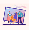 family activities flat set vector image vector image