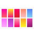 floral color palette gradient background set vector image