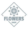 flower plant logo simple gray style vector image vector image