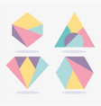 geometric texture abstract memphis layout shapes vector image