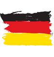 german grunge flag vector image vector image