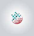 globe tech logo vector image vector image