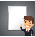 Gray Business Background with Boss vector image vector image