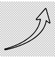 Growing arrow sign vector image vector image
