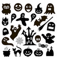 halloween icons vector image