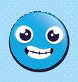 happy emoji emoticon character vector image