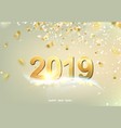 happy new year card over gray vector image vector image