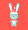 hare with warm knitted clothes vector image vector image