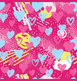 heart seamless pattern holiday background vector image vector image