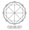 hollow core geometric figures and elements vector image