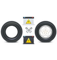 icons of car parts for garage auto services kit vector image vector image