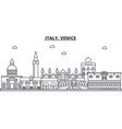 italy venice architecture line skyline vector image vector image