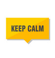 keep calm price tag vector image vector image