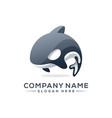 killer whale logo design vector image vector image