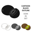kiwi icon cartoon singe fruit icon vector image vector image