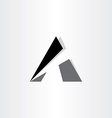 letter a stylized icon vector image vector image