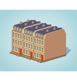 Low poly brownstone town house vector image