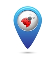 Map pointer with ladybug icon vector image vector image
