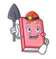 miner diary mascot cartoon style vector image vector image