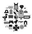 mood icons set simple style vector image vector image