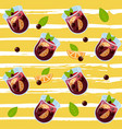 mulled wine glintwein pattern vector image vector image