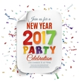 New Year party poster template with confetti vector image