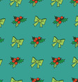 Nice seamless pattern with snowflakes and christma vector image vector image