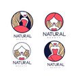 original round emblems for beauty or hair salon vector image vector image