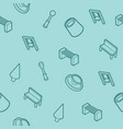 park outline isometric pattern vector image vector image