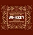 retro whiskey label vector image vector image