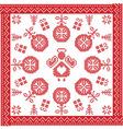 Scandinavian Nordic winter cross stitch knitting