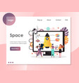 space website landing page design template vector image vector image
