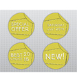 Special offer stickers Yellow design template vector image