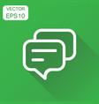 speech bubble icon business concept discussion vector image