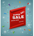 super sale banner ribbon red vector image vector image