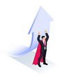 superhero lifts arrow vector image