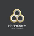 teamwork logo social network logo design vector image vector image