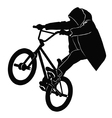 Teenager riding a BMX bicycle vector image vector image