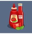 Tomato sauce bottle vector image vector image