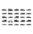 urban city car glyph icons vector image vector image