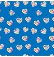 Valentine blue diamond seamless pattern vector image
